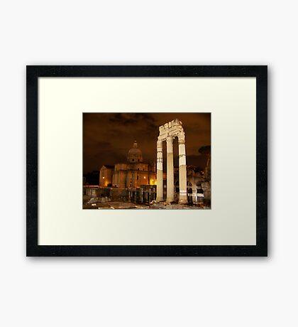 Rome in Night Framed Print