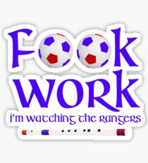 Glasgow Rangers FC look work Sticker