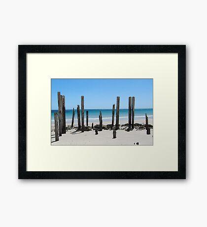 Posts Framed Print