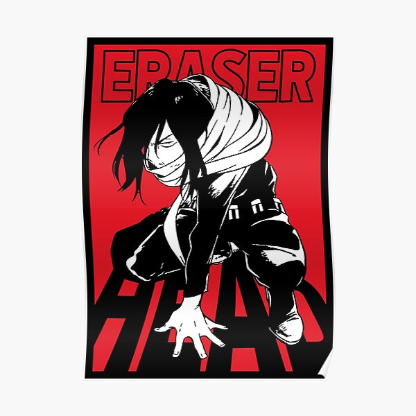 Eraser Head (Black) Poster