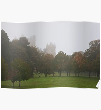 Wollaton Hall in the Mist Poster