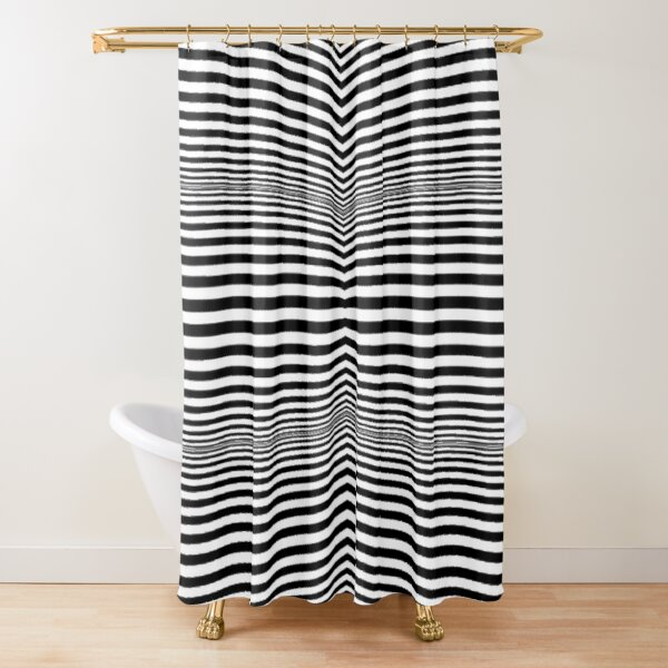 #OpArt, #visual #illusion, #VisualArt, opticalart, opticalillusion, opticalillusionart, opticalartillusion, psyhodelic, psichodelic, psyhodelicart Shower Curtain