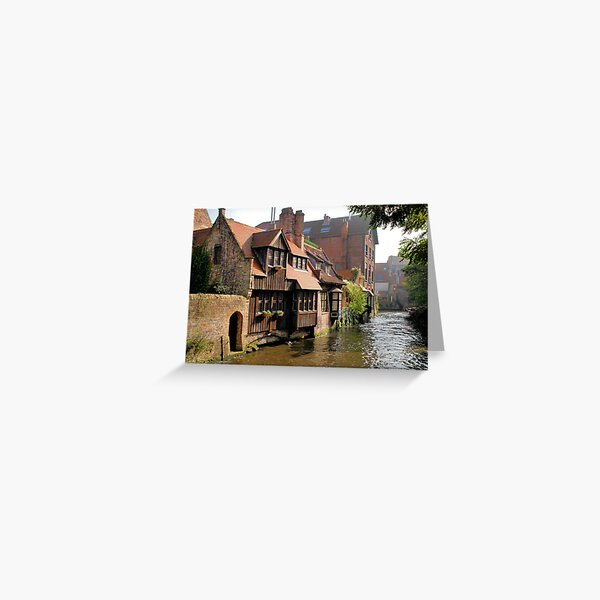 A canal in Bruges Greeting Card