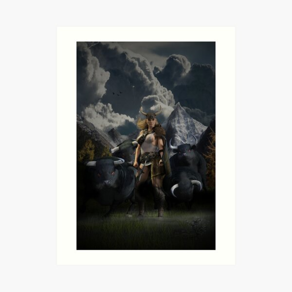 Gefjon - The Viking God Art Print