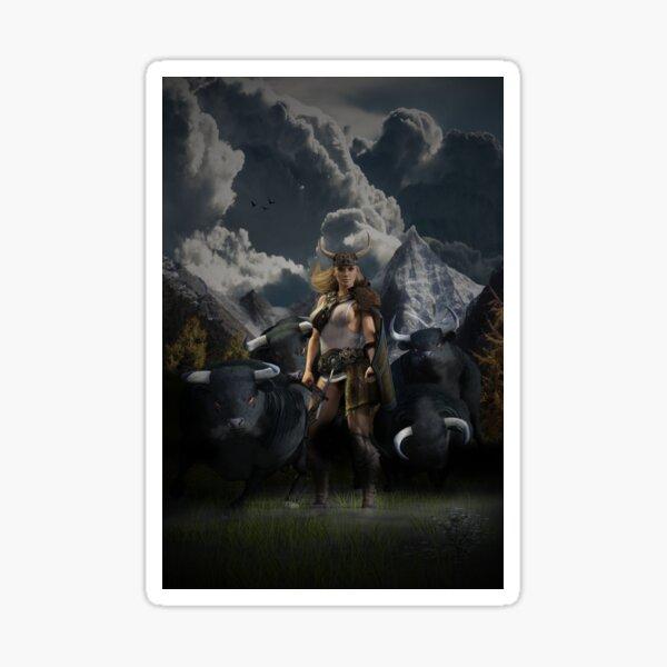 Gefjon - The Viking God Sticker