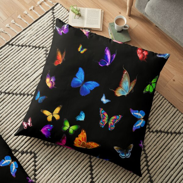 BUTTERFLIES SHOW Floor Pillow
