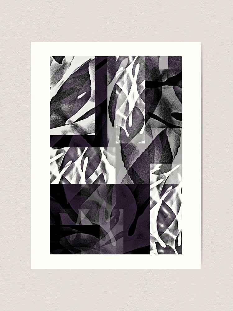 Alternate view of Fatsia Japonica Abstract by Jenny Meehan  Art Print