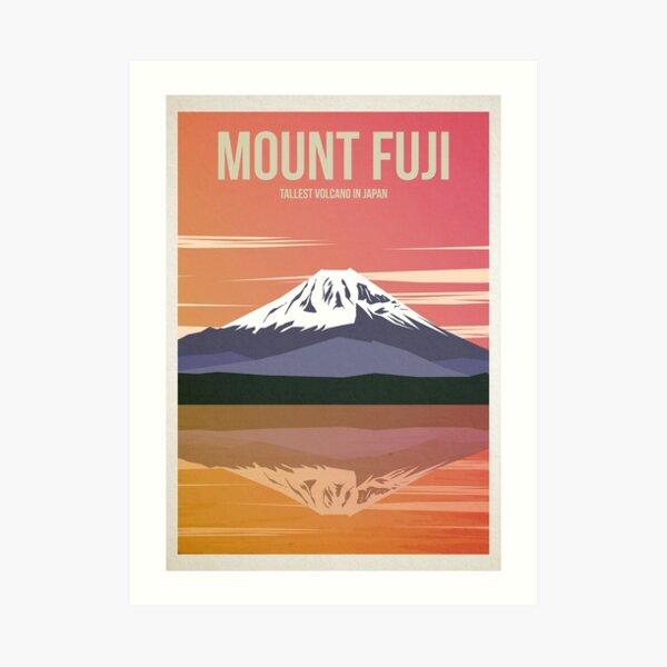 Mount Fuji Travel Poster Art Print