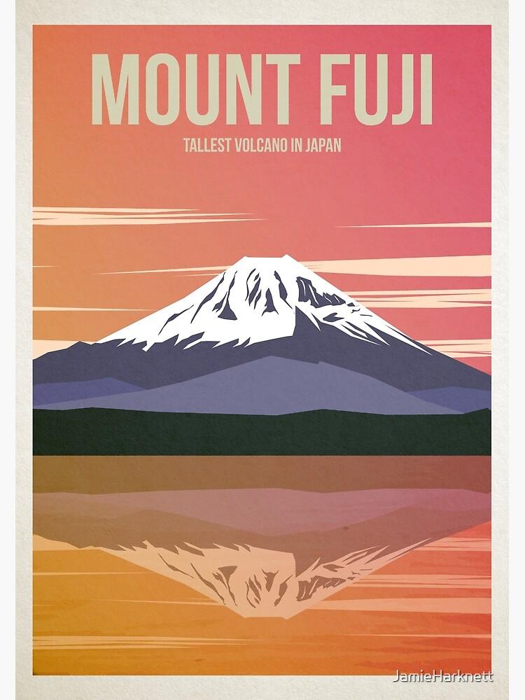 Mount Fuji Travel Poster by JamieHarknett