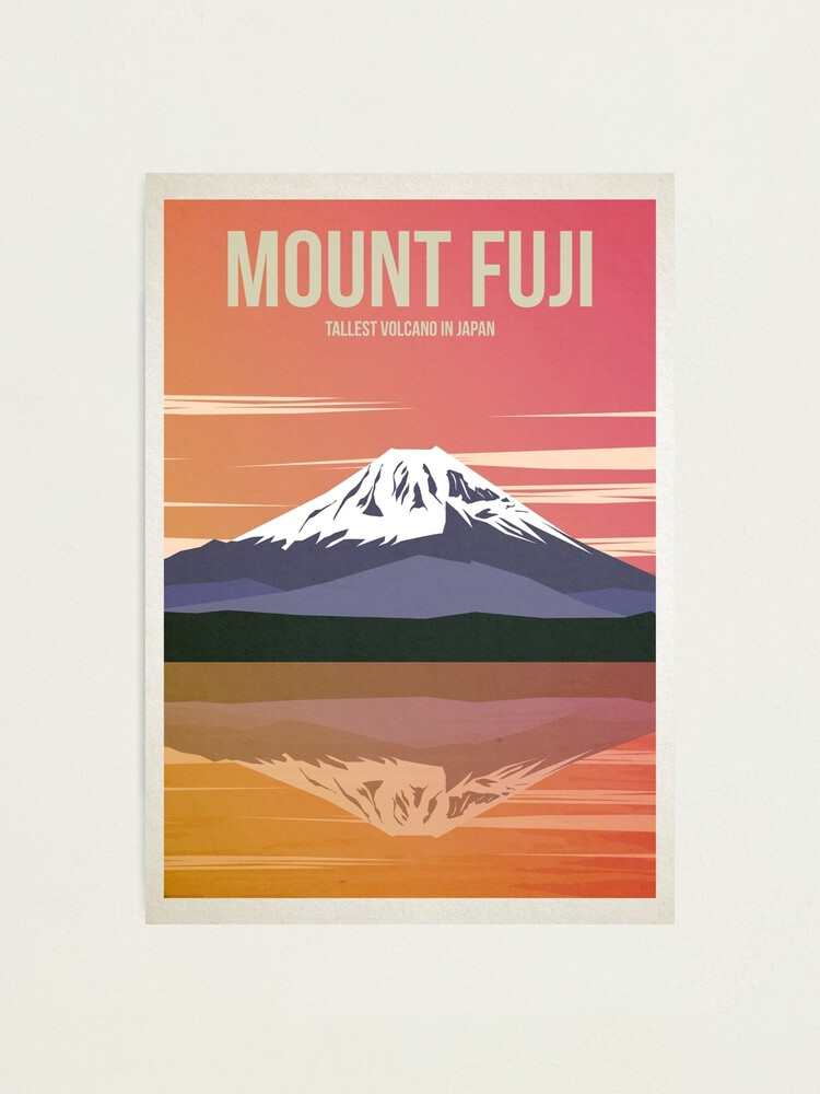 Alternate view of Mount Fuji Travel Poster Photographic Print