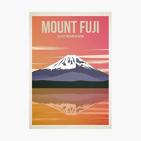 Mount Fuji Travel Poster Photographic Print