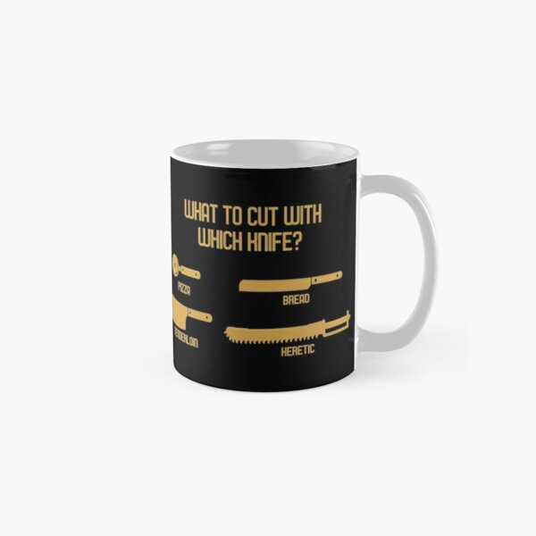What to Cut with which Knife Funny Wargaming Meme Classic Mug