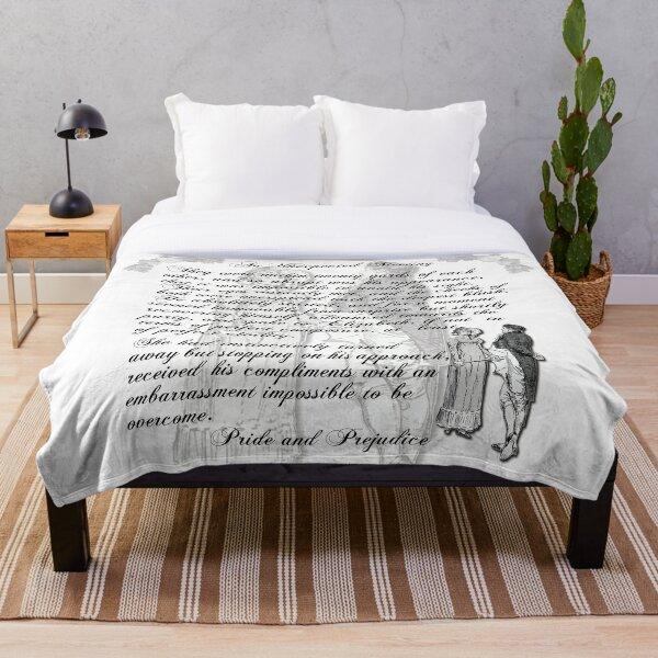 Pride and Prejudice Quote—Jane Austen themed  Throw Blanket