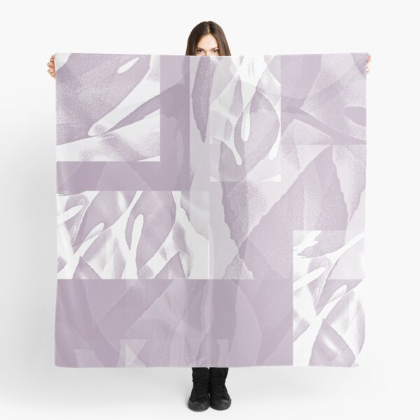 Purple Diaphanous Muted Fatsia Japonica Abstract - Jenny Meehan Scarf