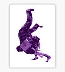 Judo Throw in Gi Purple  Sticker