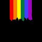 LGBT Gay Pride Rainbow Drip Paint by Ricaso