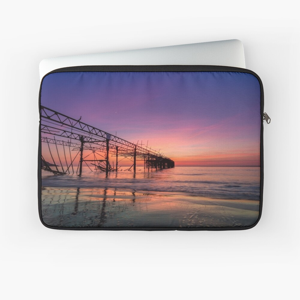 Totland Pier Caught In The Afterglow Laptop Sleeve