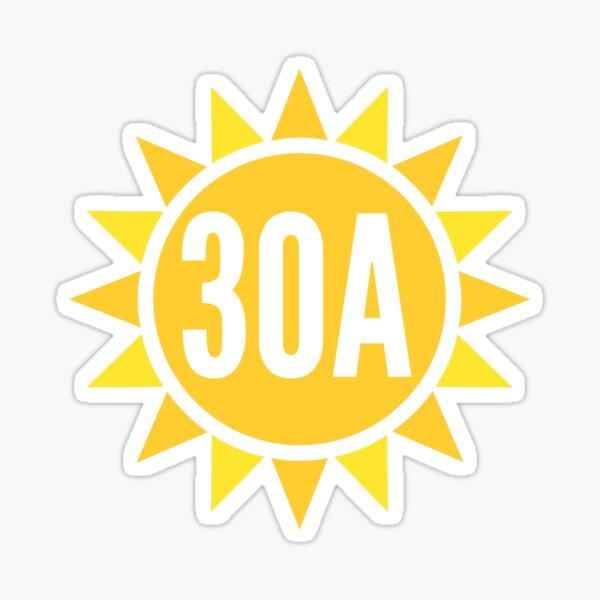 30A Sun Sticker