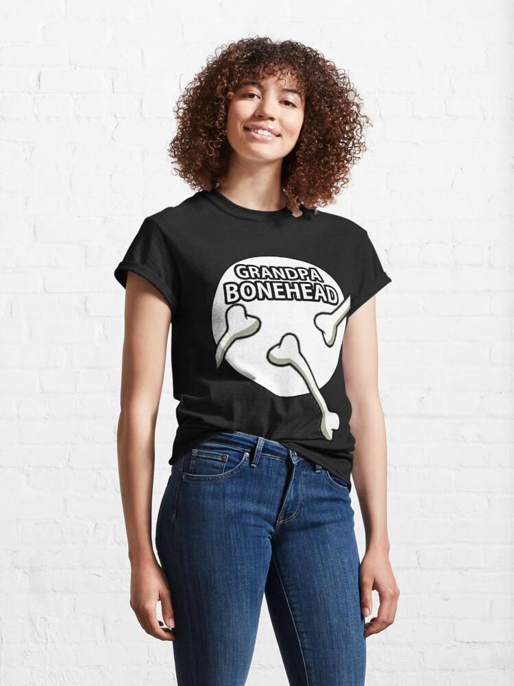 Alternate view of Grandpa Bonehead Design  Classic T-Shirt
