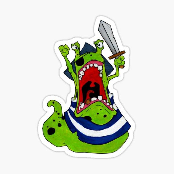 Pirate Slug, painted artwork Sticker
