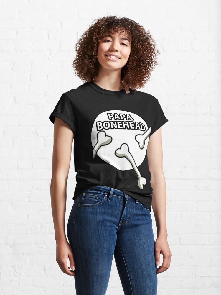 Alternate view of Papa Bonehead Design  Classic T-Shirt