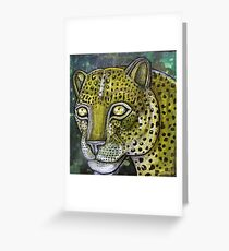 Hunting Leopard Greeting Card