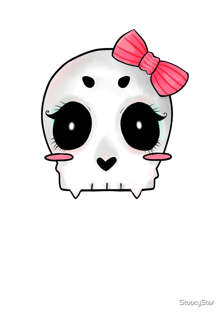 Cute Cartoon Skull by StoocyStar