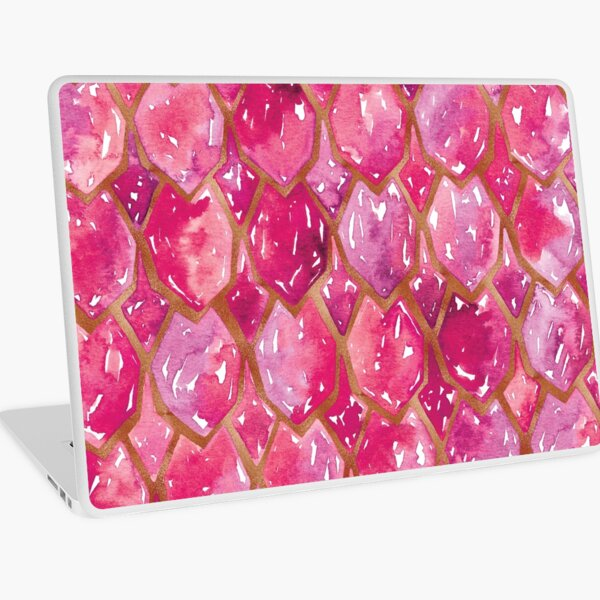 Dragon Scales | Pink and Copper Laptop Skin