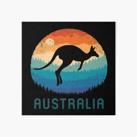 Australia Kangaroo Retro Art Board Print