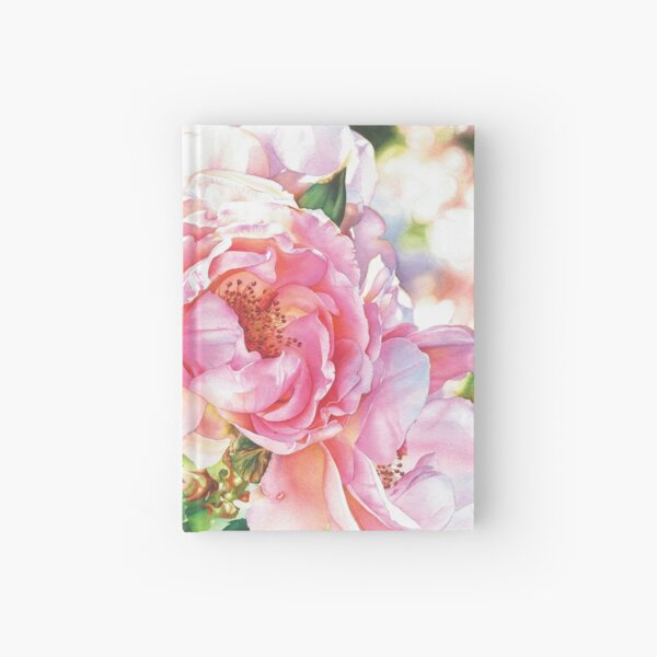 A Rose In Winter#2 Watercolor Painting Hardcover Journal