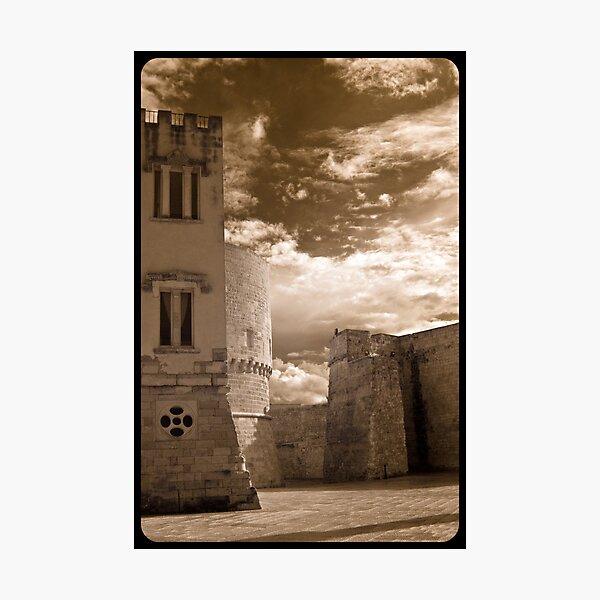 Castle Walls, Italy Photographic Print