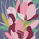 Graphic Floral Design by Marlagill