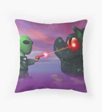 Cute lil Alien & Blob Throw Pillow