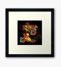 Zebrafish Fluorescent Staining Framed Print