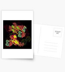 Zebrafish Fluorescent Staining Postcards