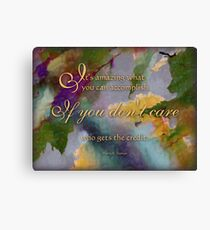 It's amazing - wisdom saying 5 Canvas Print
