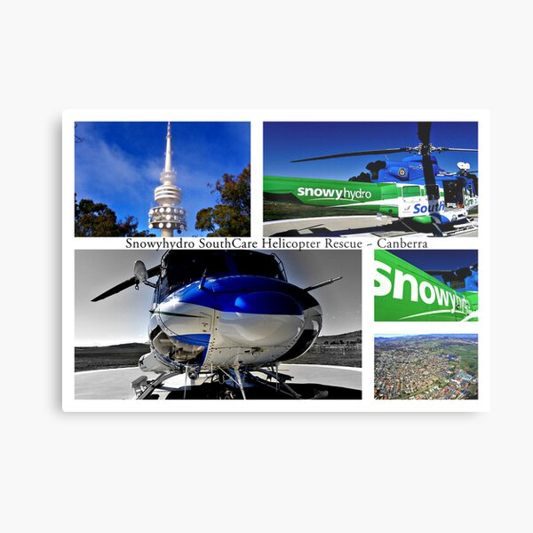 Snowyhydro SouthCare Helicopter Rescue ~ Canberra Metal Print