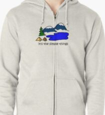 Camping - Simple Things Zipped Hoodie