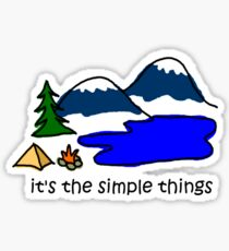 Camping - Simple Things Sticker