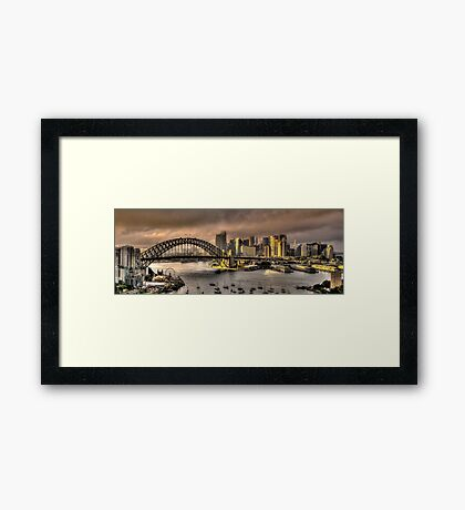 Let There Be Light - Sydney Harbour Sunrise - The HDR Experience Framed Print