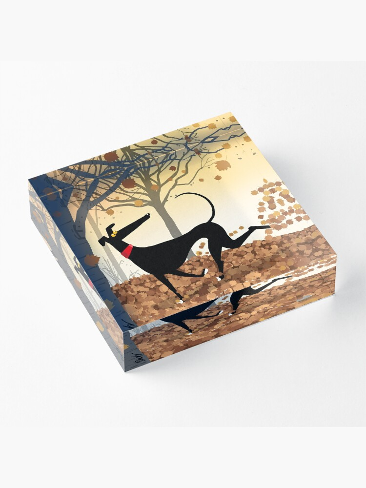 Alternate view of Autumn Hound Acrylic Block