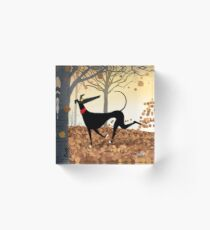 Autumn Hound Acrylic Block