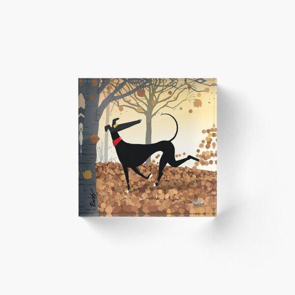 Autumn Hound Acrylic Block