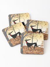 Autumn Hound Coasters