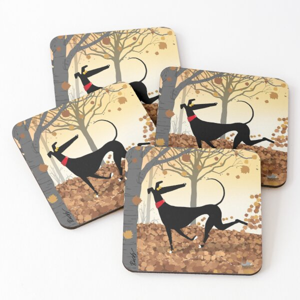 Autumn Hound Coasters (Set of 4)