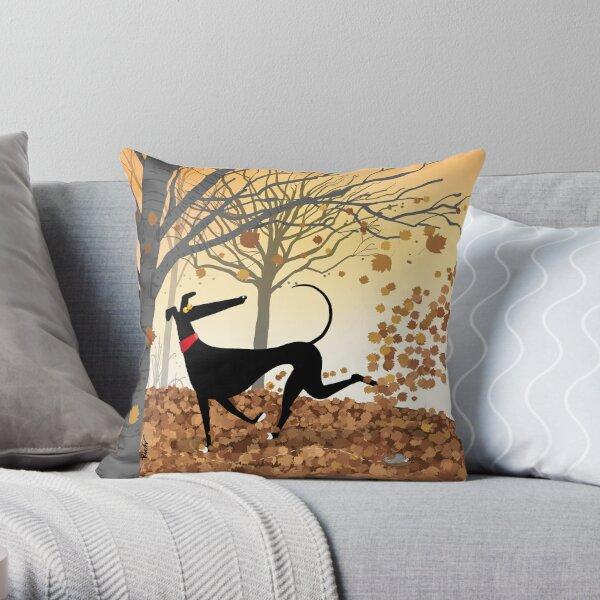 Autumn Hound Throw Pillow