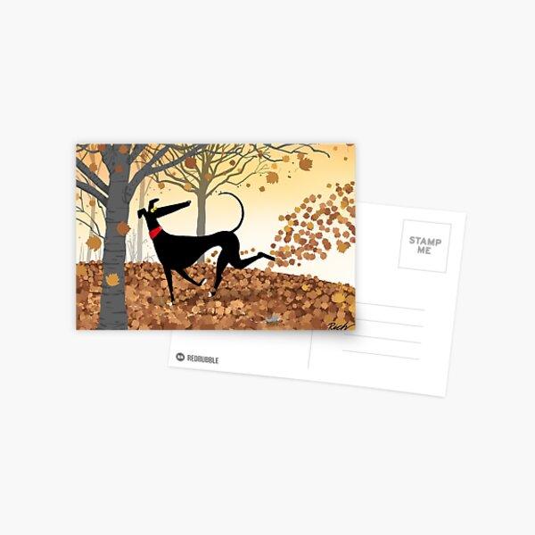 Autumn Hound Postcard