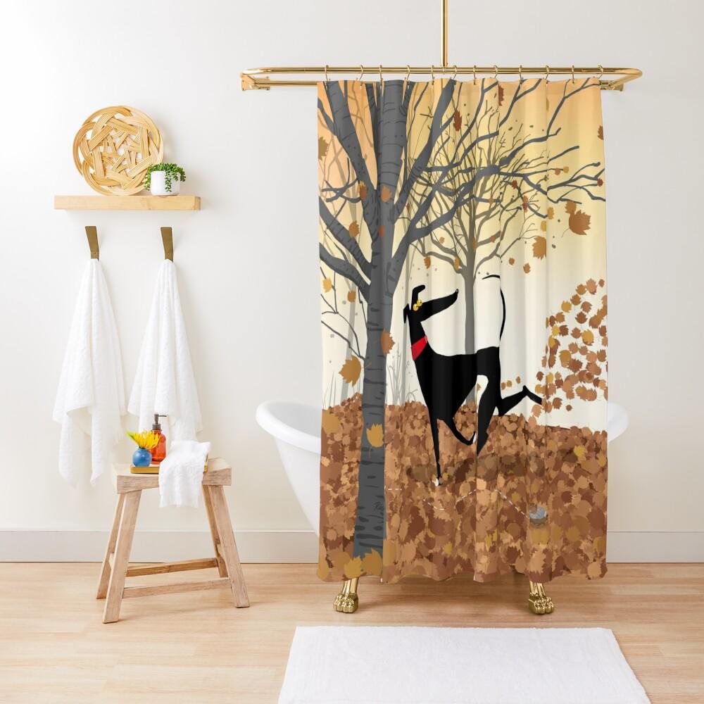 Autumn Hound Shower Curtain