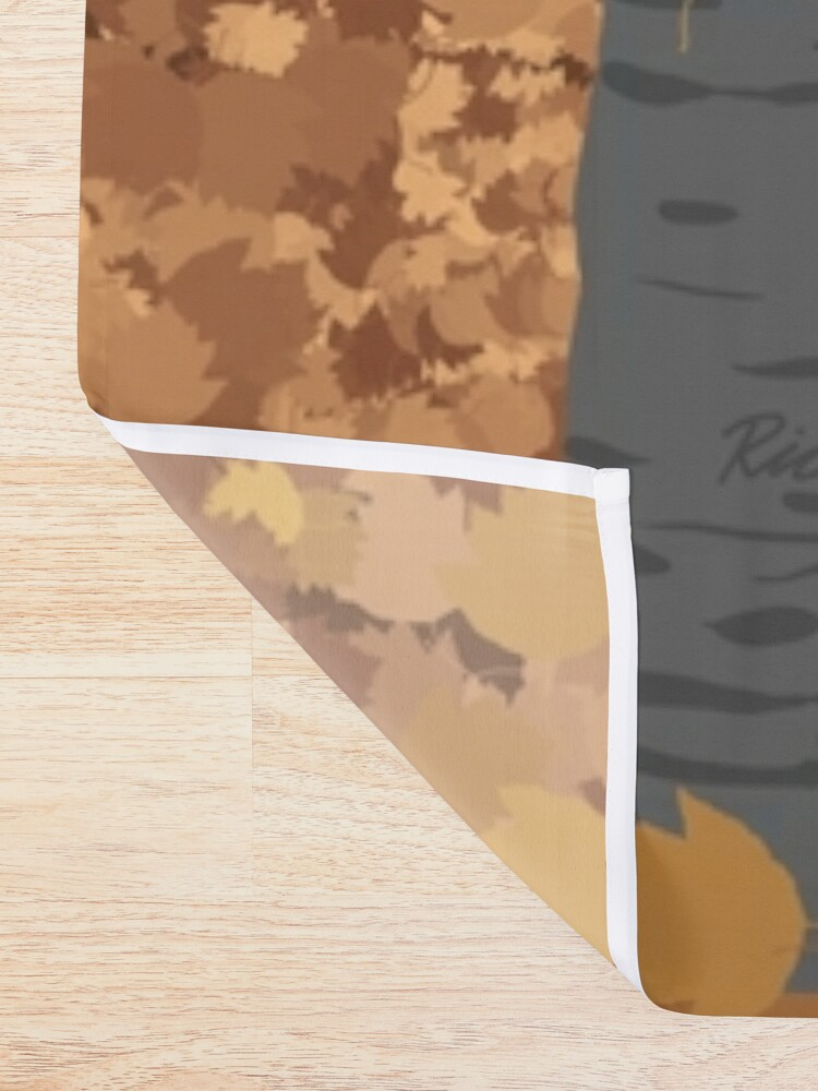 Alternate view of Autumn Hound Shower Curtain
