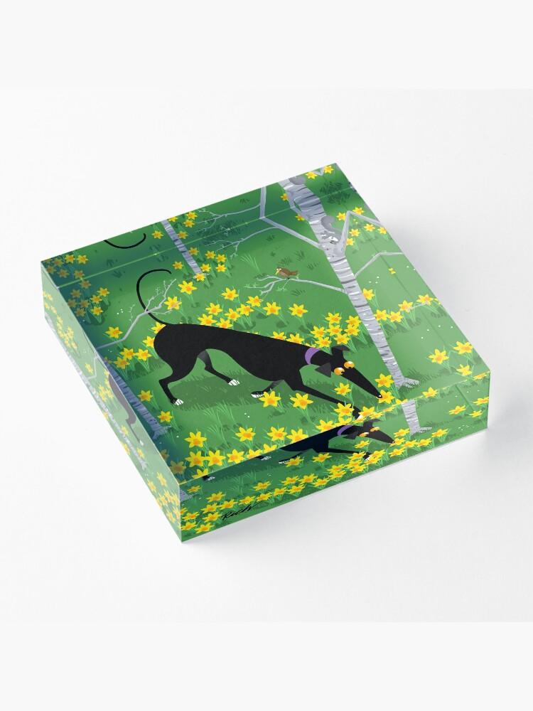 Alternate view of Daffodil Hound Acrylic Block